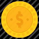 coin, dollar, finance