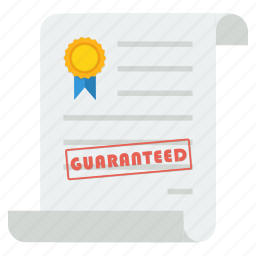 guarantee, purchase, sales, shopping, statement, trade, warranty icon