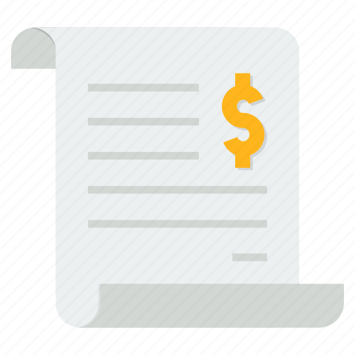 bill, invoice, purchase, sales, shopping, statement, trade icon