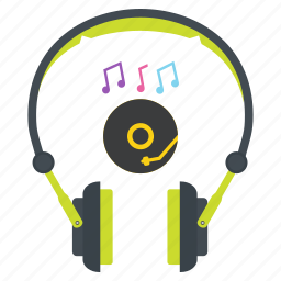 audio, cd, deejay, disc, headphones, headset, music icon