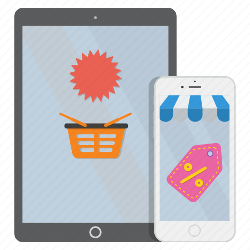 ecommerce, eshopping, internet, mobile, online, shopping icon