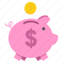 bank, banking, piggy, save, savings, shopping icon