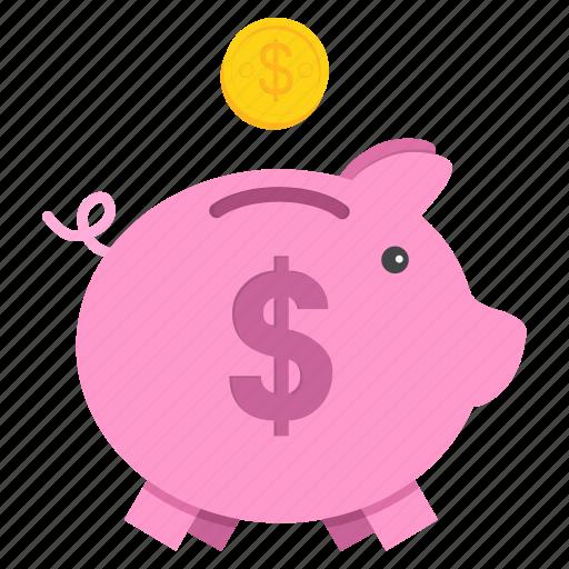 bank, banking, piggy, save, savings, shopping icon