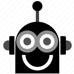 android, head, robo, robohead, robot icon