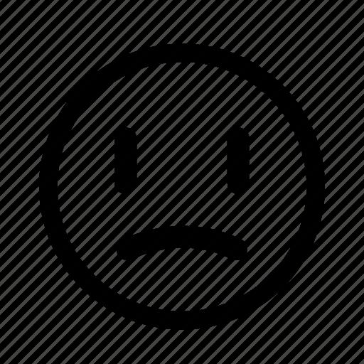 emoticon, sad, unhappy icon