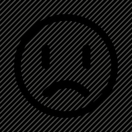 depressed, emoticon, sad, unhappy icon