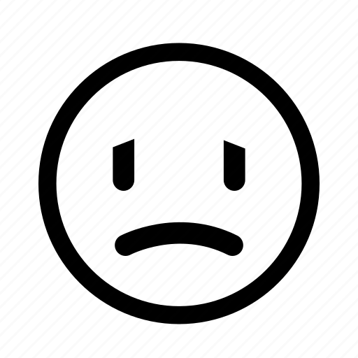 emoticon, sad, sick, unhappy, unwell, upset icon