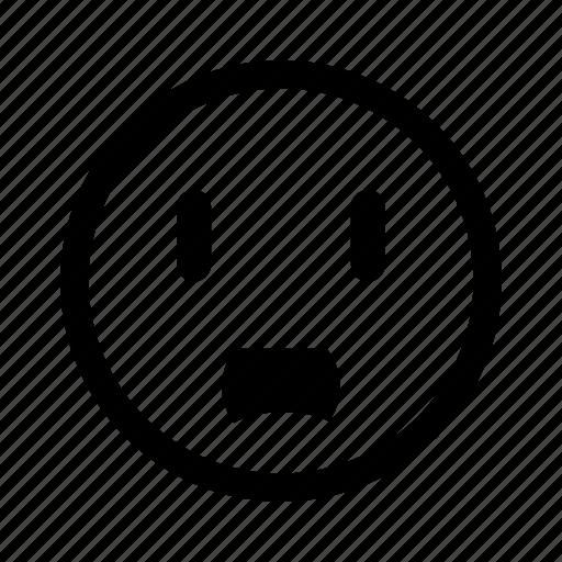 astonished, emoticon, shocked, surprised icon