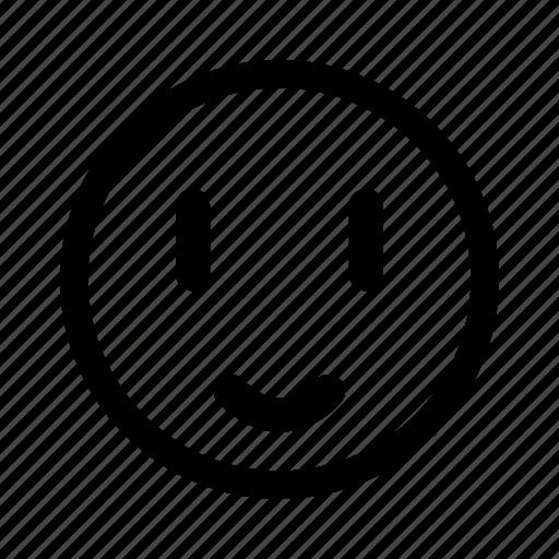 emoticon, happy, humble, joy, smile icon