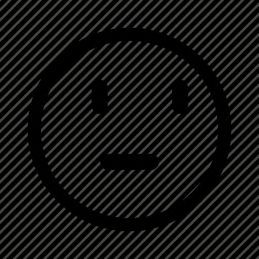 emoticon, think, thinking, wonder icon