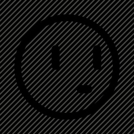 bored, emoticon, think, thinking, wonder icon