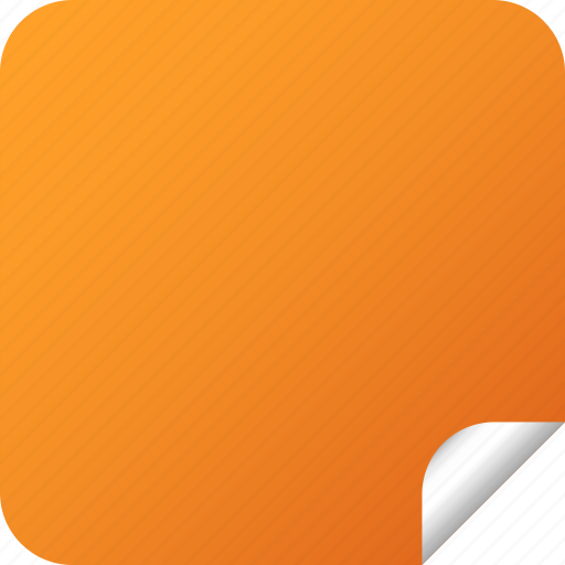 blank, label, orange, square, sticker icon
