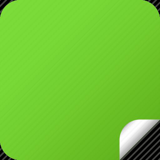 blank, green, label, square, sticker icon