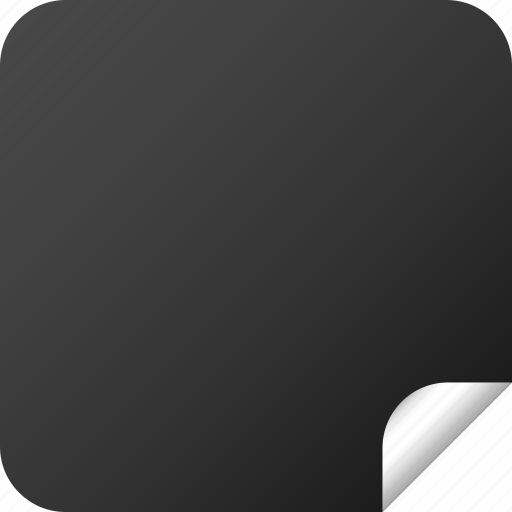 blank, dark, label, square, sticker icon