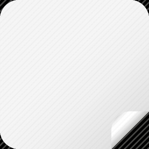 blank, label, square, sticker, white icon