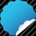 blank, blue, cloud, flower, label, sticker