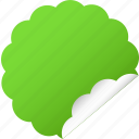 blank, cloud, green, label, sticker icon