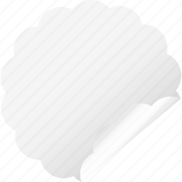 blank, cloud, flower, label, sticker, white icon