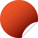 blank, circle, label, red, round, sticker icon