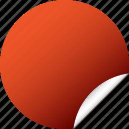 blank, circle, label, red, round, sticker icon