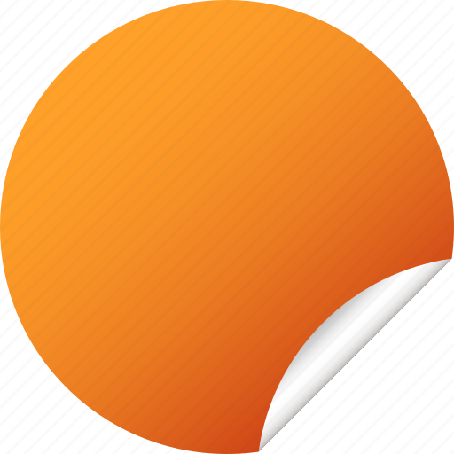 blank, circle, label, orange, round, sticker icon