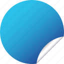 blank, blue, circle, label, round, sticker
