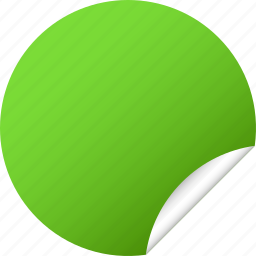 blank, circle, green, label, orange, round, sticker icon