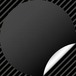 blank, circle, dark, label, round, sticker icon