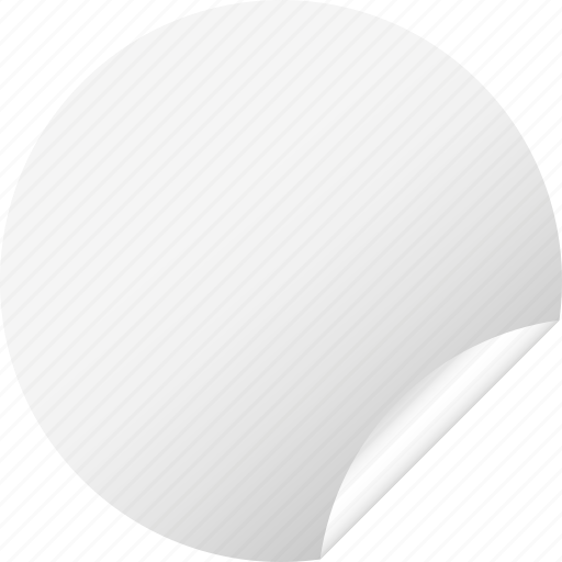blank, circle, label, round, sticker, white icon