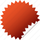 blank, red, sticker icon