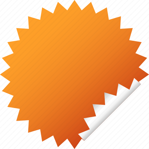 blank, label, orange, sticker icon
