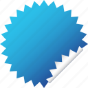 blank, blue, label, sticker icon
