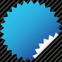 blank, blue, label, sticker icon
