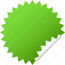 blank, green, sticker icon