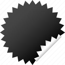 blank, dark, label, sticker icon