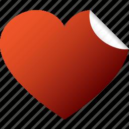 blank, heart, like, love, red, sticker, valentine icon