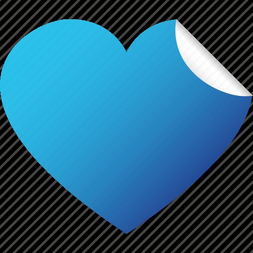 blank, heart, like, love, sticker, valentine icon