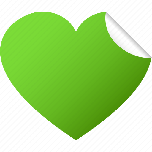 blank, green, heart, like, love, sticker, valentine icon