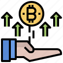 bitcoins, coin, commerce, currency, dollar, exchange, finances icon