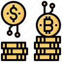 business, cash, coins, currency, money, stack icon