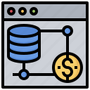 cloud, computing, data, database, file, server, storage icon