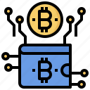 bitcoin, business, cash, coin, currency, money, wallet icon