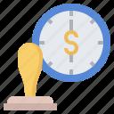 alarm, certify, clock, office, stamp, time, timer