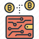 bitcoin, blockchain, business, currency, digital, finance, wallet icon