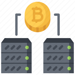 bitcoin, block, chain, coin, cryptocurrency, data, server icon