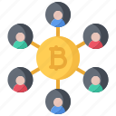 bitcoin, block, chain, coin, cryptocurrency, idea, network icon