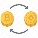 bitcoin, block, chain, coin, cryptocurrency, exchange icon