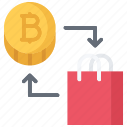 bitcoin, block, chain, coin, cryptocurrency, exchange, product icon