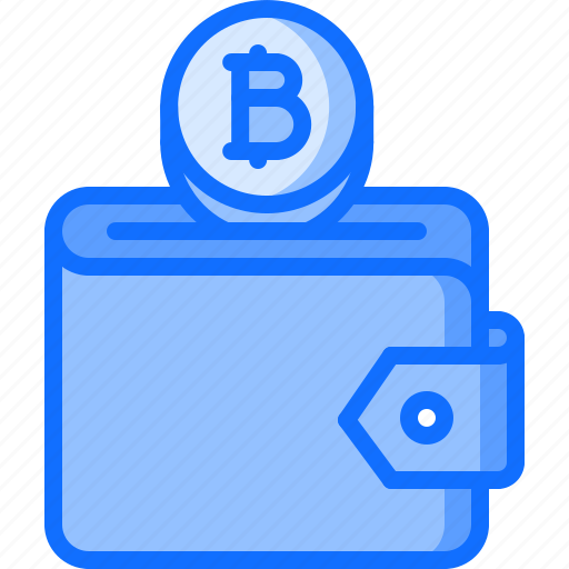 bitcoin, block, chain, coin, cryptocurrency, purse icon
