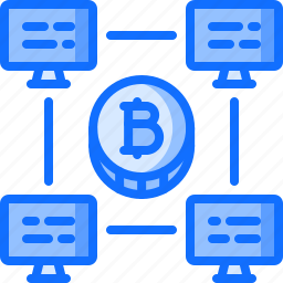 bitcoin, block, chain, coin, cryptocurrency, network, pool icon